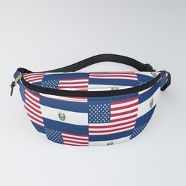 Mix of flag :  Usa and Salvador Fanny Pack