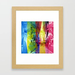 Overlap interrupting wrapped up in thoughts while. [CMYK] Framed Art Print