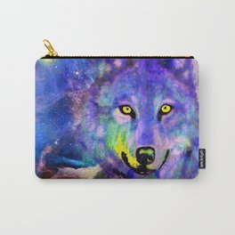 NEBULA WOLF OF MY DREAMS VIOLET BLUE Carry-All Pouch
