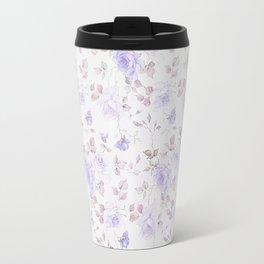 Lavender gray elegant vintage roses floral Travel Mug