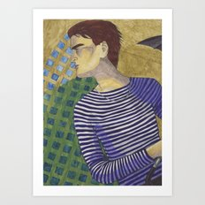 Squares & Stripes Art Print