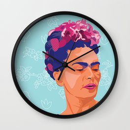 Framed Frida Wall Clock