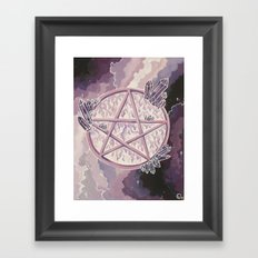 Amethyst Pentagram Framed Art Print