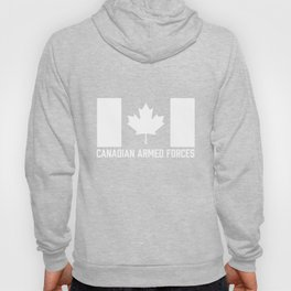 Canadian Armed Forces T-Shirt - Canada White Flag Hoody