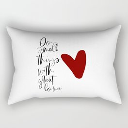 Do Small Things With Great Love, Nursery Wall Art, Printable Art, Typography Art Rectangular Pillow