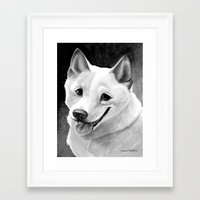 shiba inu Framed Art Prints featuring Shiba-Inu  by Bark Point Studio