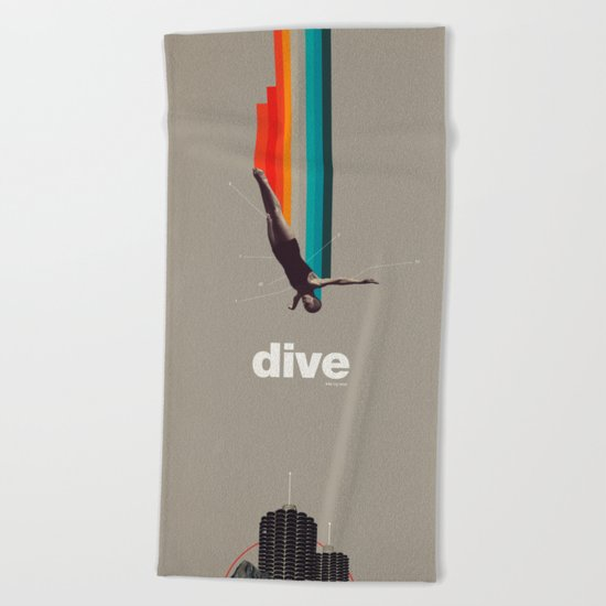 Dive Into My Soul Beach Towel