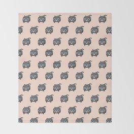 Cat Loaf - Grey Tabby Kitty Throw Blanket