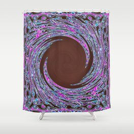 In The Pink Colorfoil Bandanna Twirl Shower Curtain
