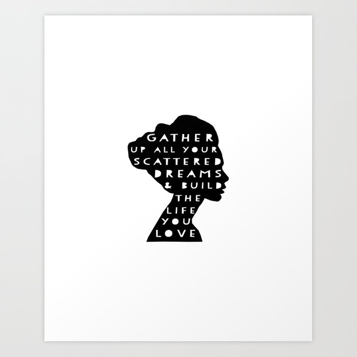silhouette - scattered dreams Art Print
