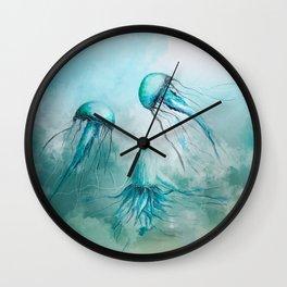 child jellyfish watercolor Wall Clock