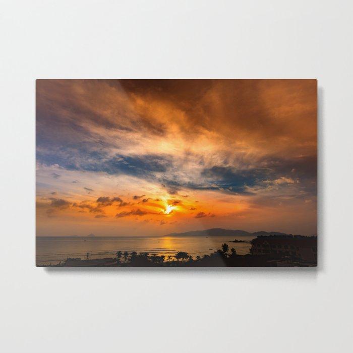 A Sunrise Glow Metal Print