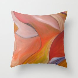 Red nude.  Original Painting by Ciel Ellis Throw Pillow