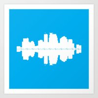 minneapolis Art Prints featuring Minneapolis by Lina Elyse Patton