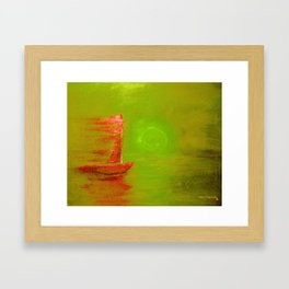 Green Apple Sail Framed Art Print