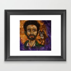 Victor and the uninvited guest Framed Art Print