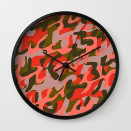 Coral Camouflage 2 Wall Clock