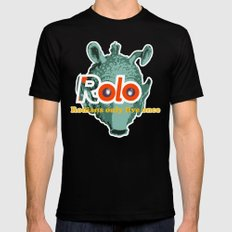 ROLO Black MEDIUM Mens Fitted Tee