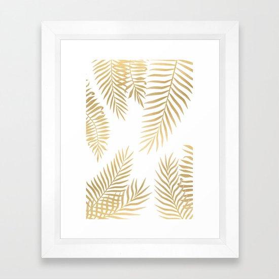 Gold palm leaves by martaolgaklara