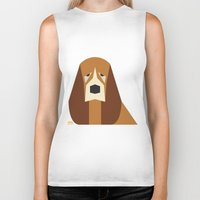 the hound Biker Tanks featuring Basset Hound by Page 84 Design