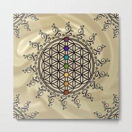 FLOWER OF LIFE, CHAKRAS, SPIRITUALITY, YOGA, ZEN, Metal Print
