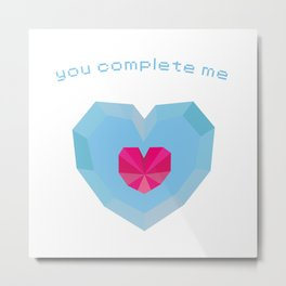 You Complete Me - Heart Container from The Legend of Zelda Metal Print