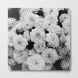 Halftone Flowers Metal Print