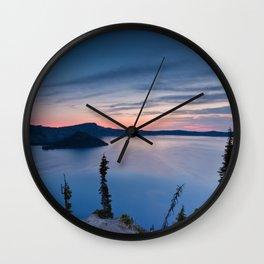 Sunrise At Crater Lake Wall Clock