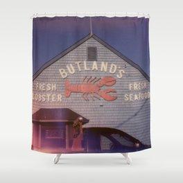 Butland's Fresh Lobster Shower Curtain