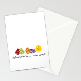 Waiting on Peeps on Easter Stationery Cards