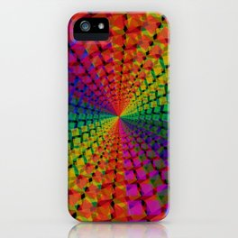 Colorful mosaic pattern design artwork- colorful christmas gifts- pixel art iPhone Case