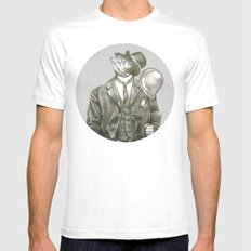 In which a dapper fish is encircled MEDIUM Mens Fitted Tee White