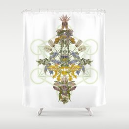 Montana Flowers & Sacred Geometry Shower Curtain