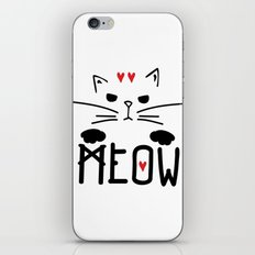 MEOW MEOW MEOW ON iPhone & iPod Skin