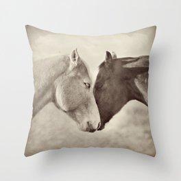 Horse Hug Throw Pillow