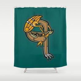 Celtic Medieval Griffin Letter Q Shower Curtain