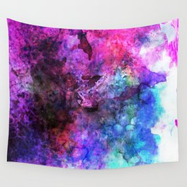 Purple Watercolor Wall Tapestry