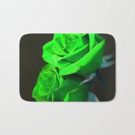St. Patrick's Day Shamrock-Green Roses Bath Mat