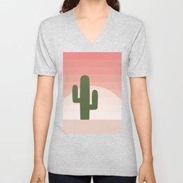 Cactus - Pink Sunset Desert Unisex V-Neck