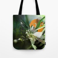 angel Tote Bags featuring Angel by Andre Villanueva