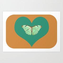 Loved butterfly Art Print