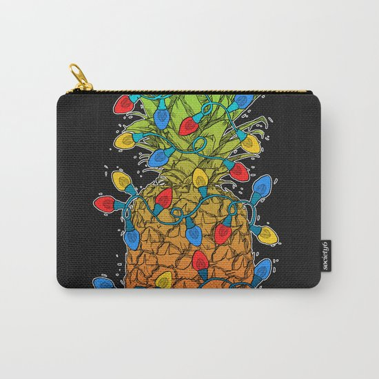 Pineapple Christmas Lights II Carry-All Pouch