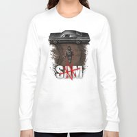 sam winchester Long Sleeve T-shirts featuring Sam by Six Eyed Monster