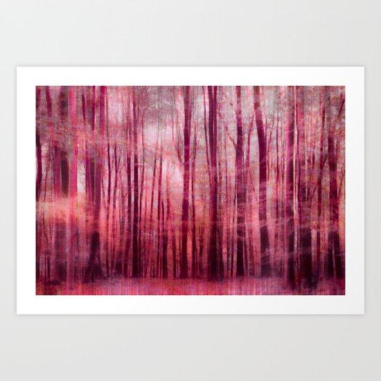 mystic forest pink Art Print