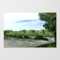 New Hope Lambertville Bridge Canvas Print