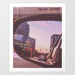 Grand Rapids, Rearview Art Print