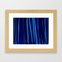 Stripes  - Ocean blues and black Framed Art Print