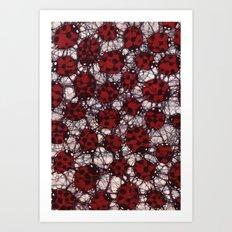 Ladybug Batik Art Print