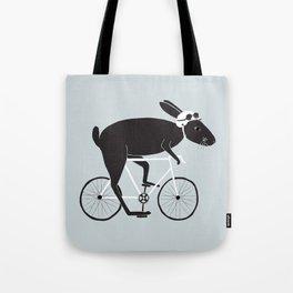 Rabbit Cyclist Tote Bag