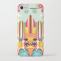 tiki iPhone & iPod Cases featuring Tiki by Claire Lordon